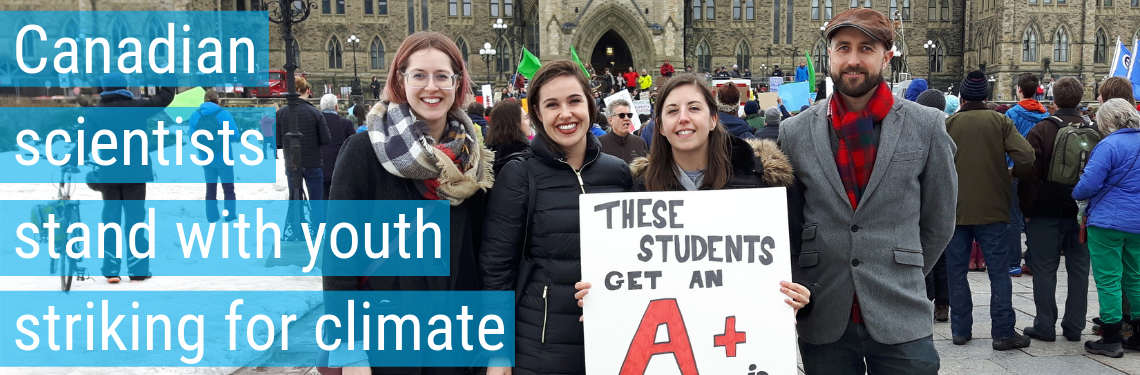Canadian scientists stand with youth striking for climate