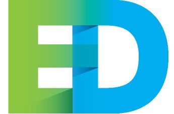 "Green and Blue ""E"" and ""D"" from the Evidence for Democracy logo"