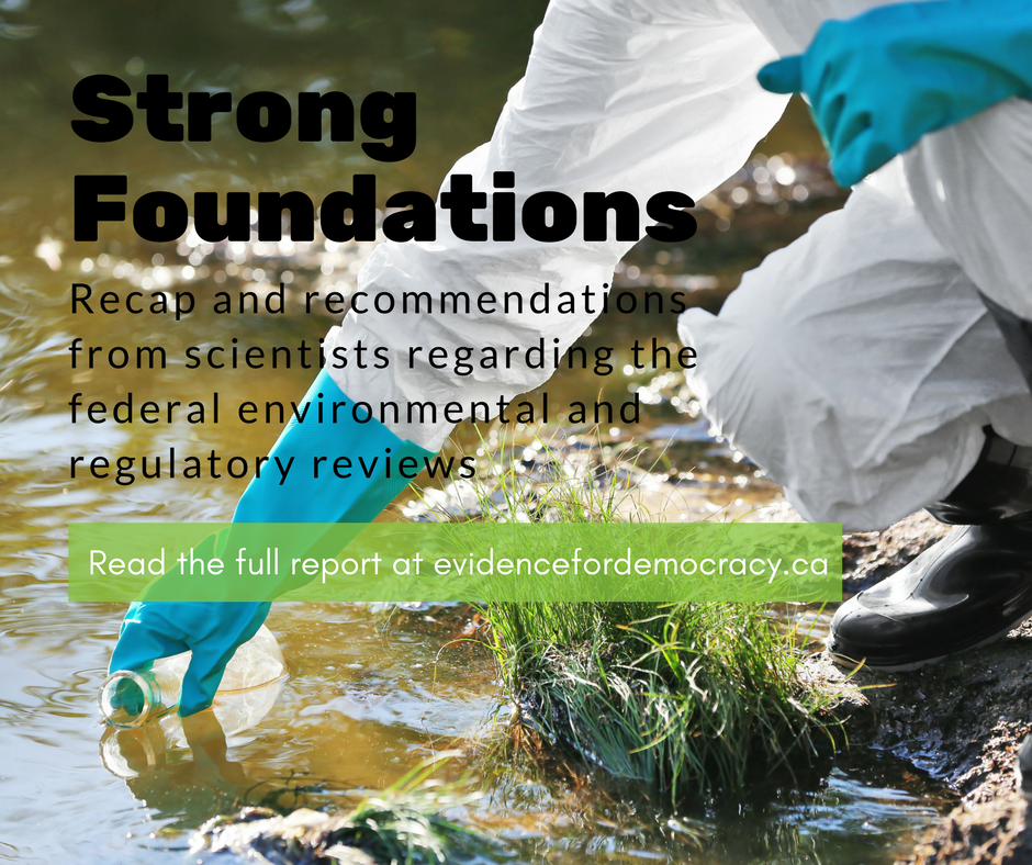 Strong Foundations: Recap and recommendations from scientists regarding the federal environmental and regulatory reviews